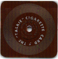 The Talkie Cigarette Card